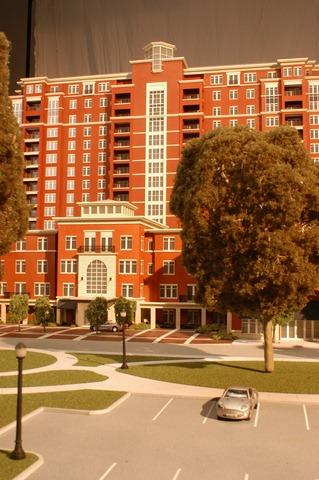 Apartment Building Architectural Model