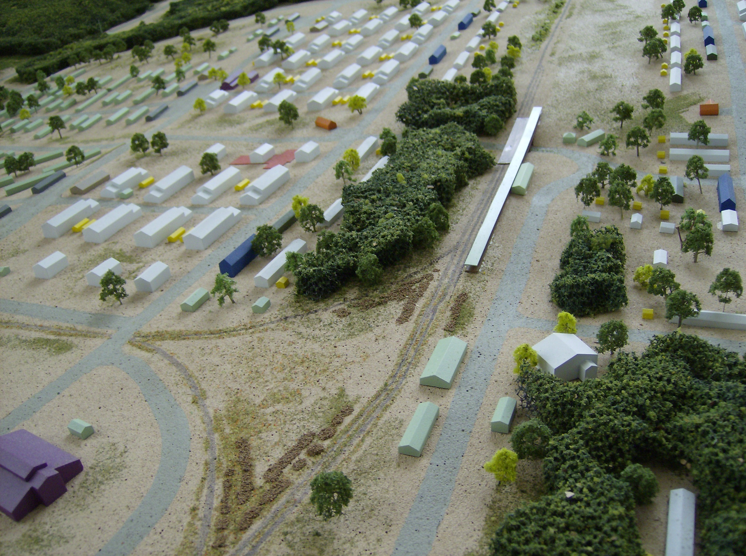 architectural model military base