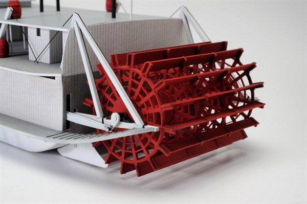 Paddle Wheel Boat Model