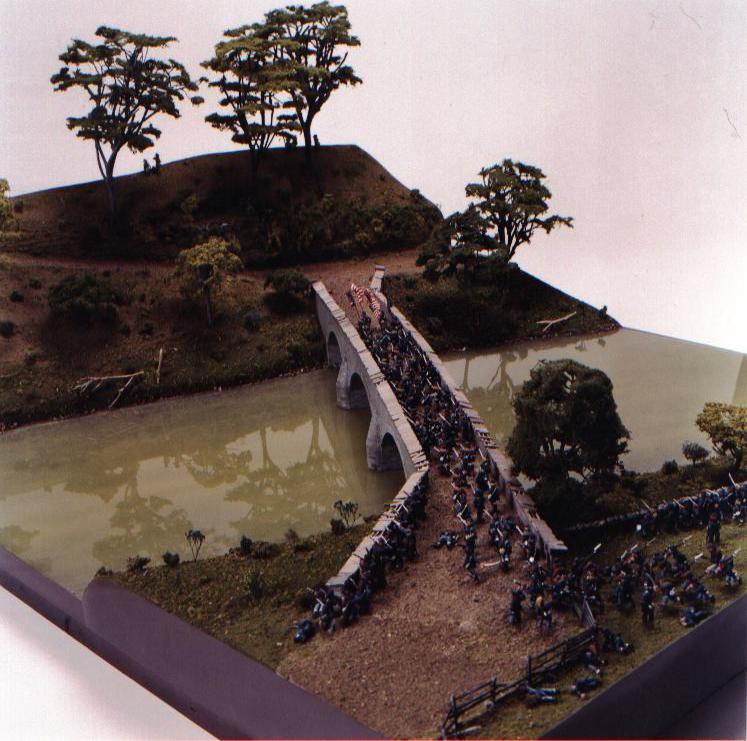 Museum Model Civil War Diorama