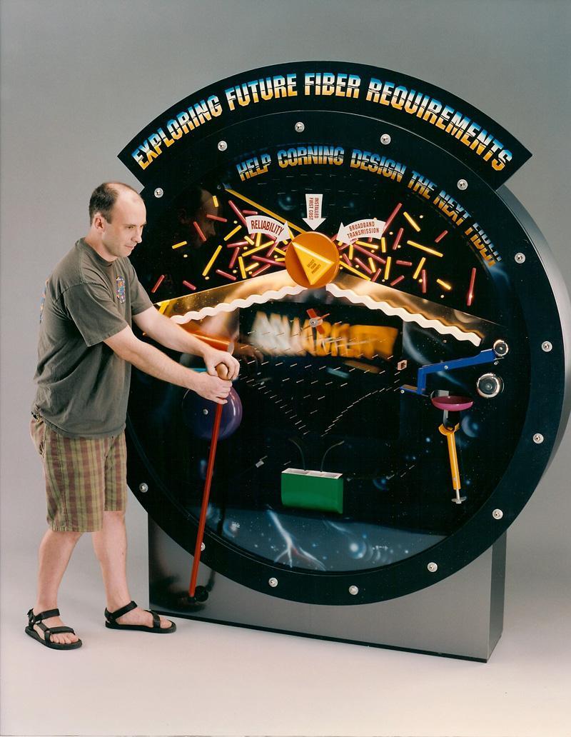 pachinko machine model with working parts