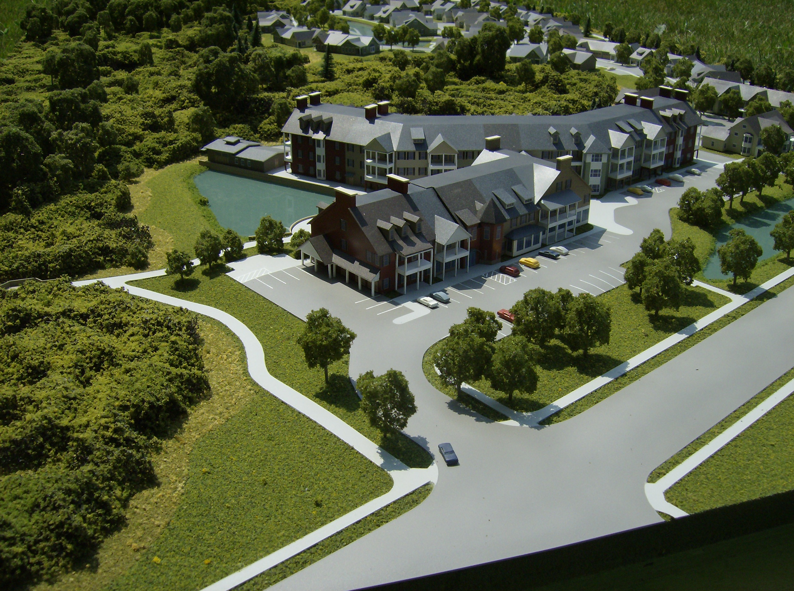 retirement home architectural model
