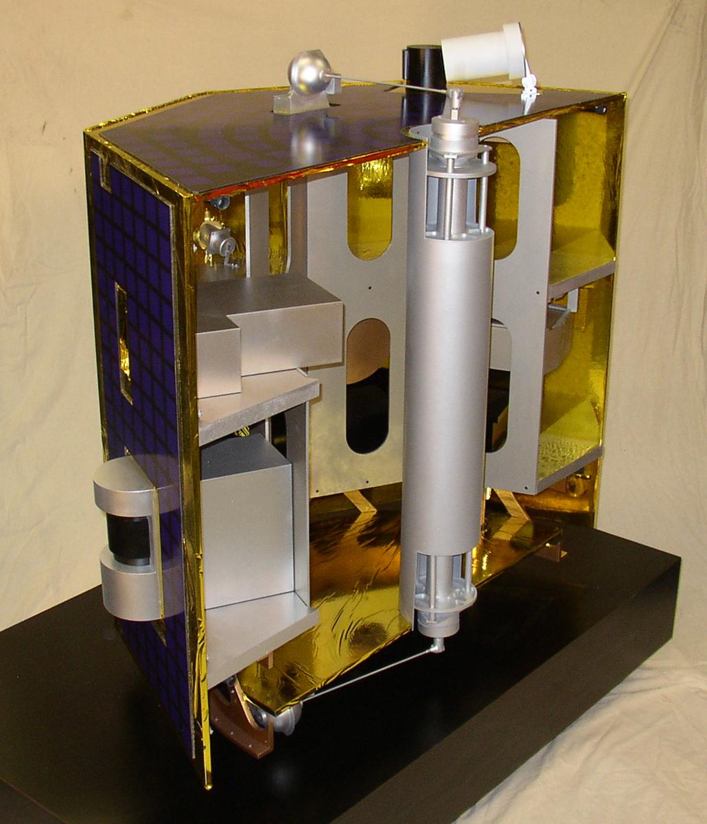 Satellite Model Cutaway