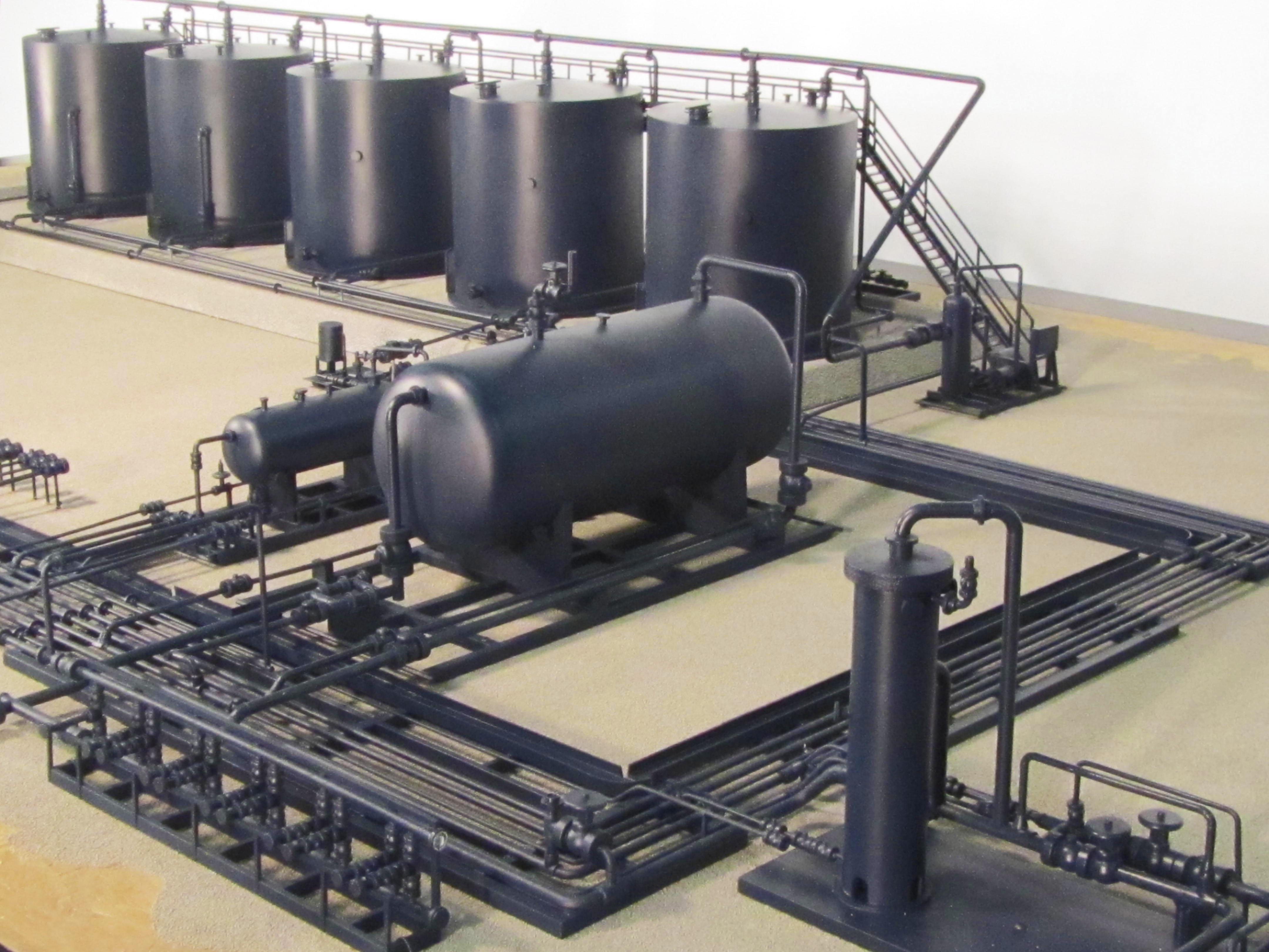 tank battery model shows modular design