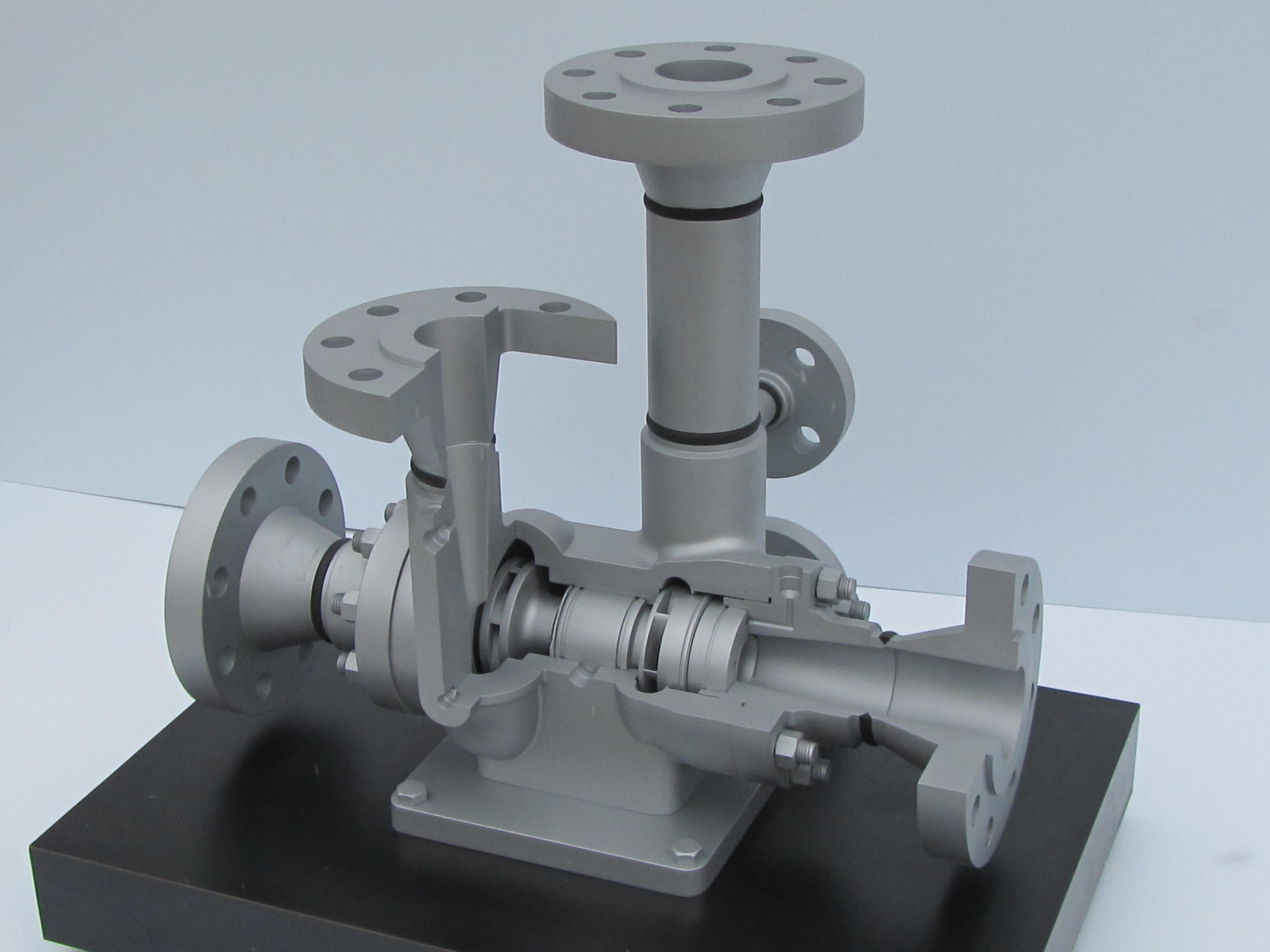Cutaway Model of Industrial Skid
