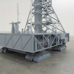 rocket launch pad model