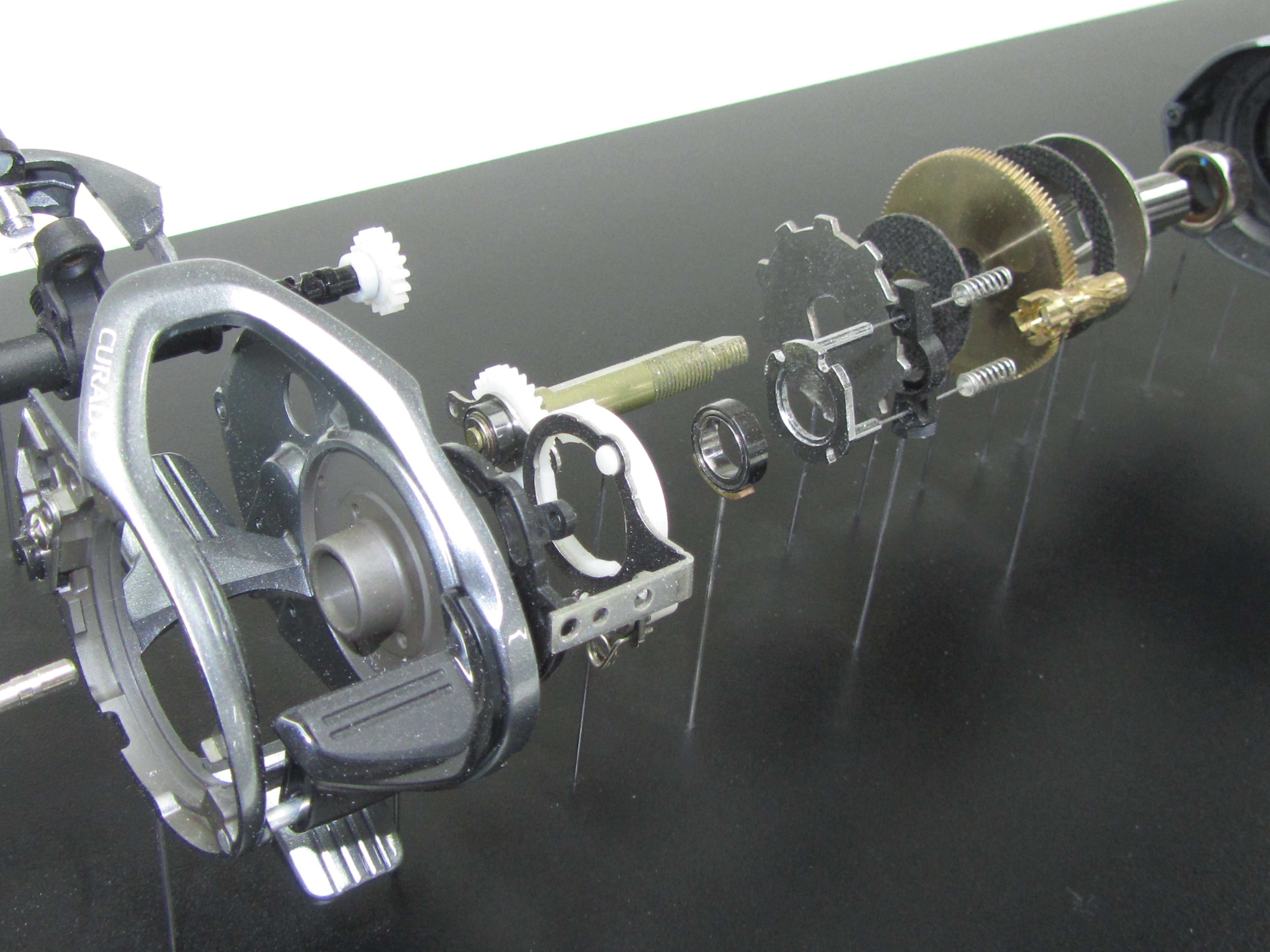fishing reel display model