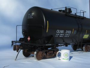 railroad tank car model